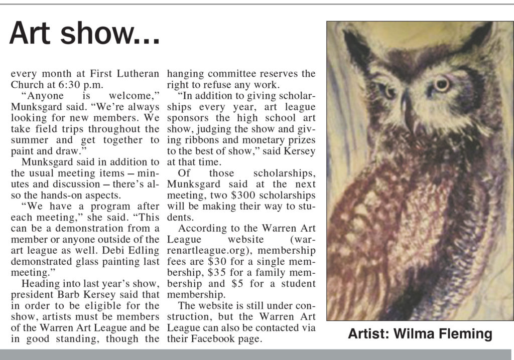 Times Observer - Art League